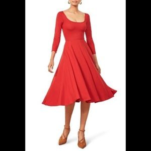 NWT Reformation Lou Midi Dress
